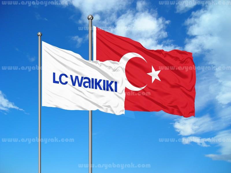 Baskılı Logo Gönder Bayrak