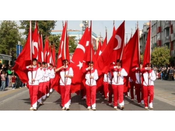Tören Türk Bayrakları