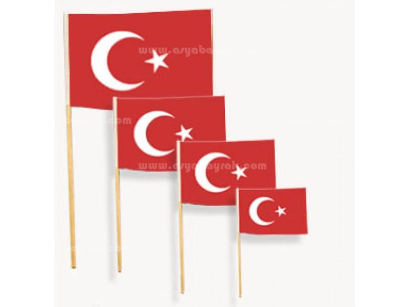 Elde Sallama Türk Bayrakları