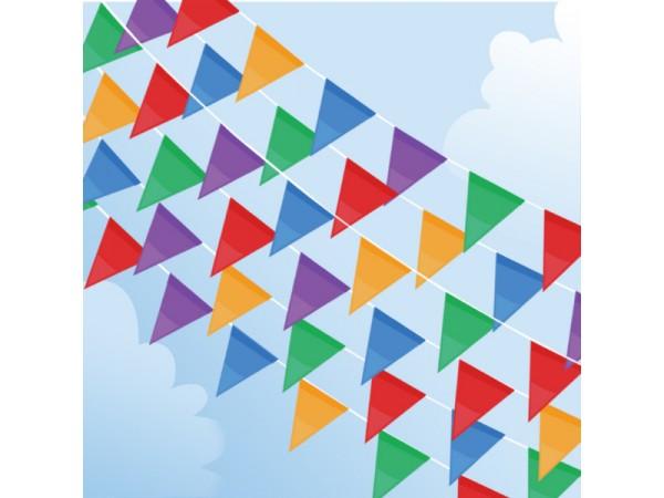 Üçgen Karışık Renkli Dizili Bayrak