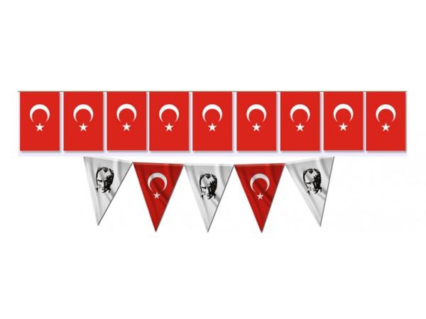 Kare Ve Üçgen-Türk Bayrağı Diziİli Bayrak